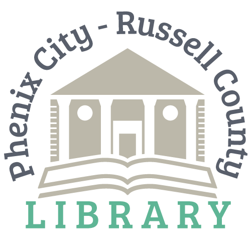 Phenix City-Russell County Library Retina Logo