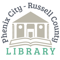 Phenix City-Russell County Library Mobile Logo
