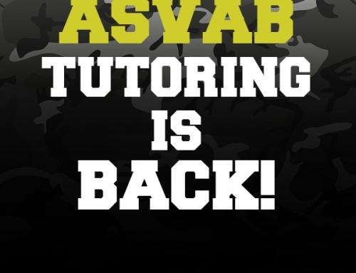 ASVAB Tutoring is Back!