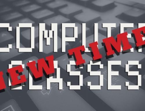 Computer Class Schedule Change Begins January 8, 2018